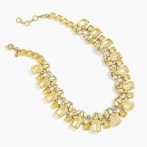 J. Crew Jewelry - J crew cluster drop crystal necklace in citrus